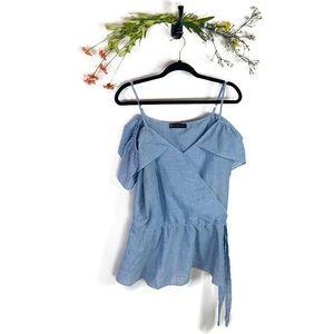 Fashion To Figure | Striped Top Blue White Size 2
